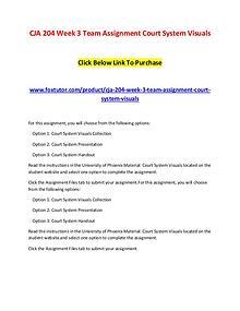 CJA 204 Week 3 Team Assignment Court System Visuals