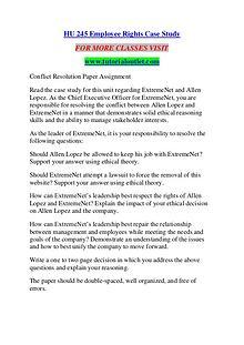 HU 245 EMPLOYEE RIGHTS CASE STUDY / TUTORIALOUTLET DOT COM