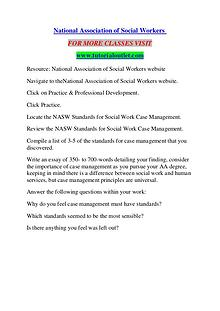 NATIONAL ASSOCIATION OF SOCIAL WORKERS / TUTORIALOUTLET DOT COM