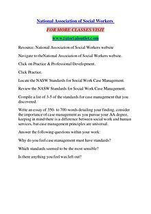 NATIONAL ASSOCIATION OF SOCIAL WORKERS / TUTORIALOUTLET DOT COM