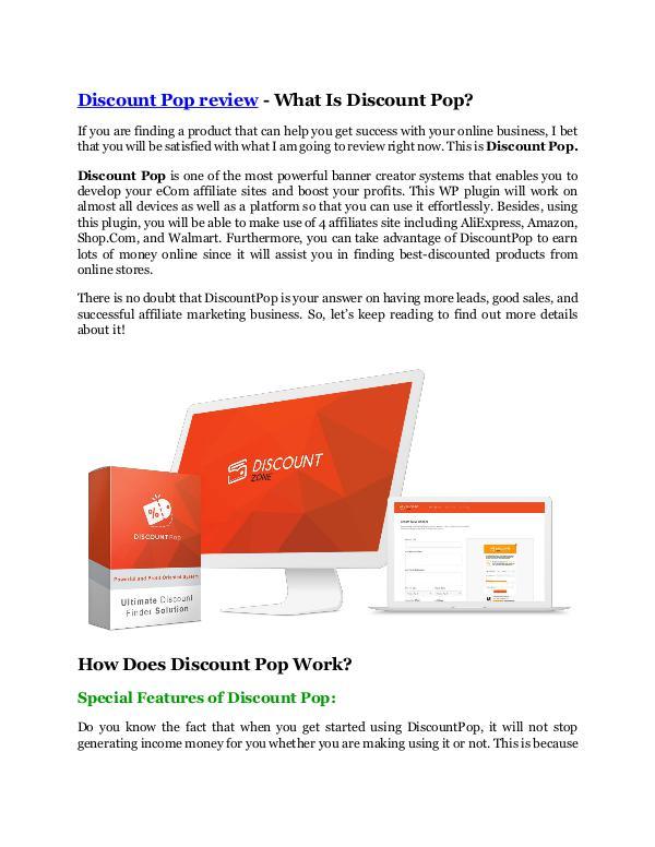 Marketing Discount Pop review & GIANT bonus packs