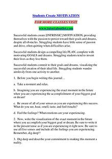 STUDENTS CREATE MOTIVATION / TUTORIALOUTLET DOT COM
