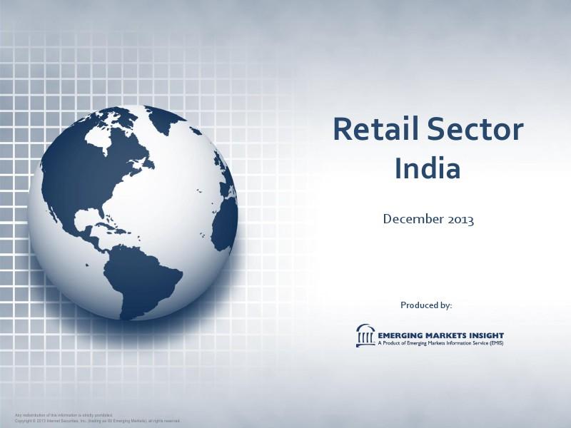EMIS Emerging Market Information Service India Retail Sector