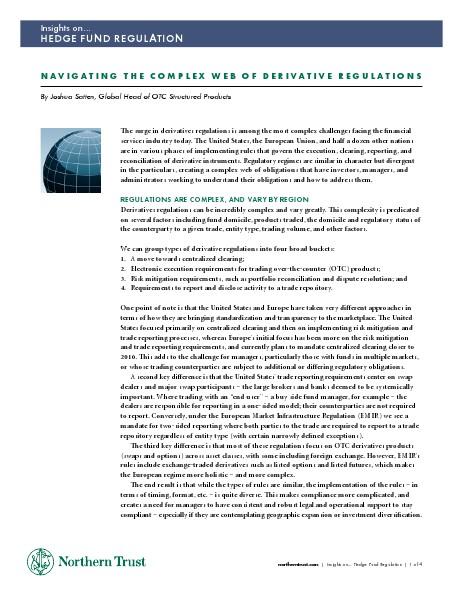 Navigating Derivative Regulations