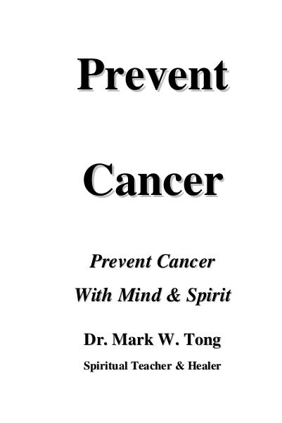 Spirituality Prevent Cancer Second Edition