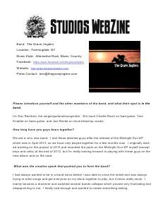 DJ REM STUDIOS Webzine October 2013 Issue 6