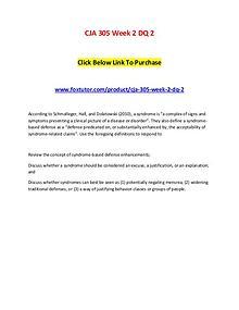 CJA 305 Week 2 DQ 2