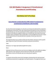 CJA 320 Module 4 Assignment 2 Constitutional Amendments and Mirandaq