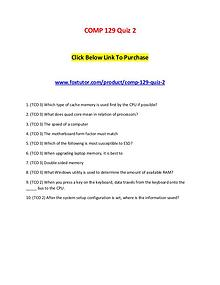 COMP 129 Quiz 2