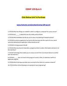 COMP 129 Quiz 6