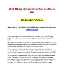 COMP 220 iLab 4 Composition Lab Report and Source Code