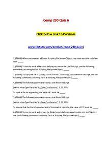 Comp 230 Quiz 6
