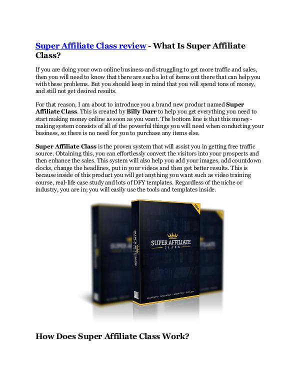 Marketing Super Affiliate Class review