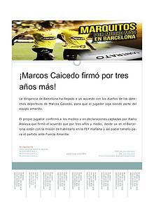 Marcos Caicedo se queda.