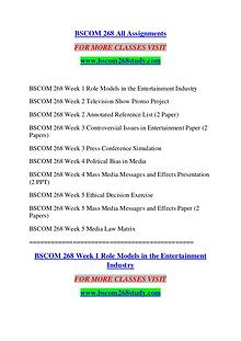 BSCOM 268 STUDY Extraordinary Success /bscom268study.com