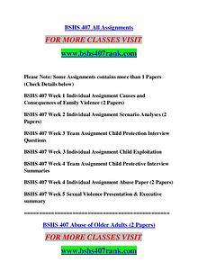 BSHS 407 RANK Extraordinary Success /bshs407rank.com