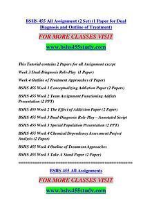 BSHS 455 STUDY Extraordinary Success /bshs455study.com
