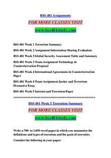 BSS 481 STUDY Extraordinary Success /bss481study.com