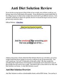 Anti Diet Solution Book / PDF Free Download