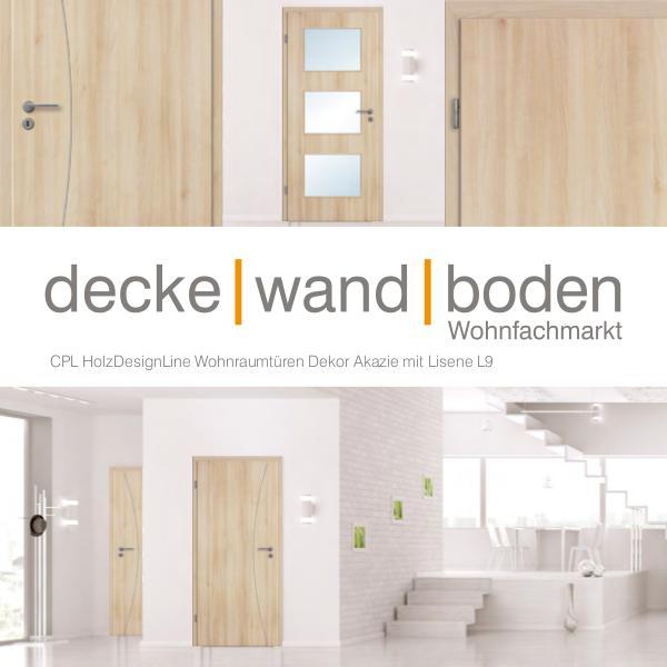 dwb Wohnraumtüren CPL Holz Design Line mit Lisenen dwb Wohnraumtüren CPL Holz Design Line mit Lisene
