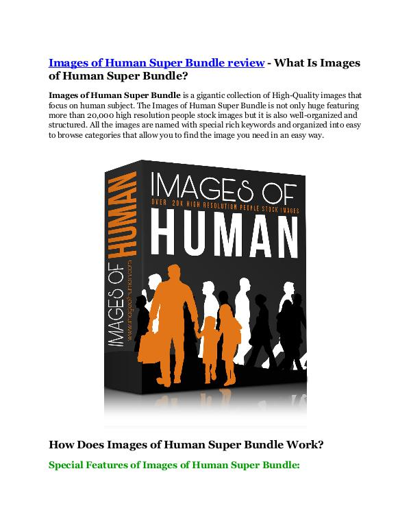 Marketing Images of Human Super Bundle review - MEGA $22,400