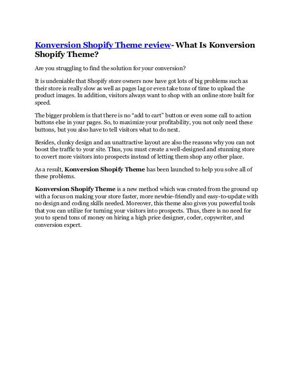 Marketing Konversion Shopify Theme review -(FREE) $32,000 Bo