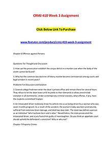 CRMJ 410 Week 3 Assignment