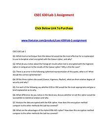 CSEC 630 All Assignments