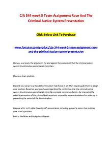 CJA 344 week 5 Team Assignment Race And The Criminal Justice System P