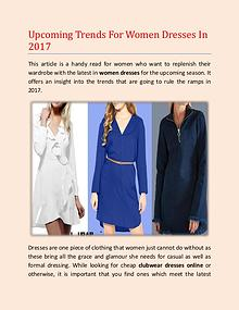 Upcoming Trends For Women Dresses In 2017