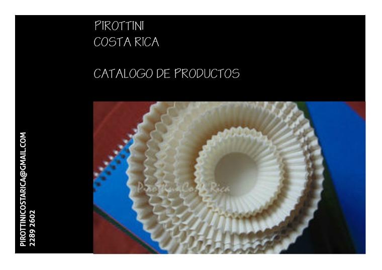 Catálogo de productos CUPCAKE HOLDERS/PIROTTINI/CAPSULA PARA REPOSTERIA