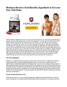 Horlaxen Reviews: Read Benefits, Ingredients & Get your Free Trial To