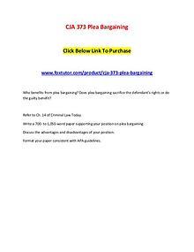 CJA 373 Plea Bargaining