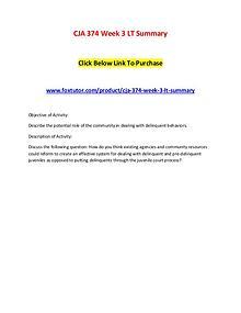CJA 374 Week 3 LT Summary