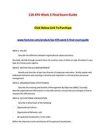 CJA 474 Week 5 Final Exam Guide