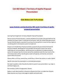 CJA 483 Week 5 Territory of Apollo Proposal Presentation