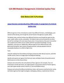 CJA 498 Module 2 Assignment 2 Criminal Justice Tree