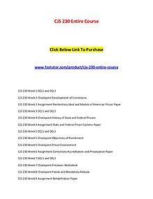 CJS 230 Entire Course