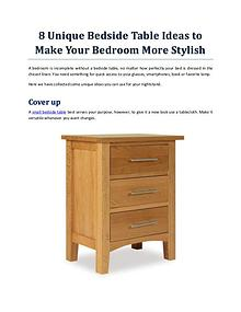 8 Unique Bedside Table Ideas To Make Your Bedroom More Stylish