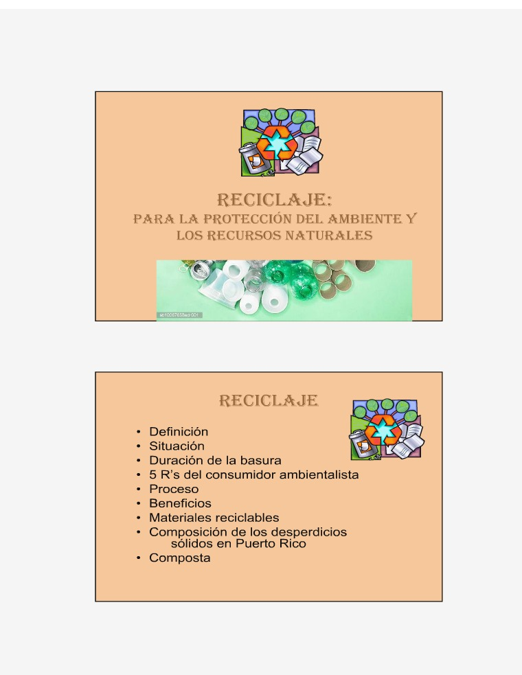 RECICLAJE reciclaje