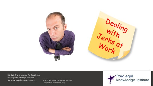 How to Handle Jerks at Work Sept. 2013