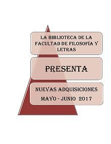 Adquisiciones Mayo - Junio 2017 FFL