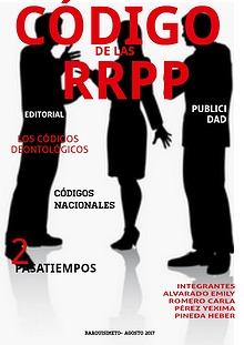 CÓDIGOS DE LAS RRPP