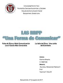 Las RRPP '' Una forma de Comunicar''