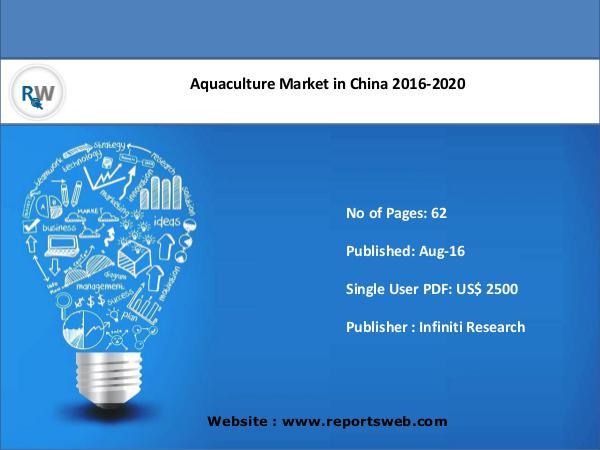ReportsWeb Aquaculture Market in China Trends 2020