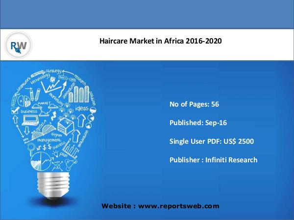 ReportsWeb Haircare Market Forecast 2020 in Africa