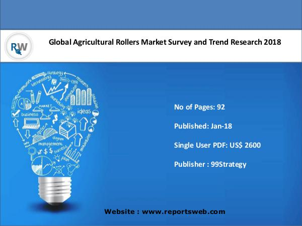 Agricultural Rollers Market 2018 Industry Trends