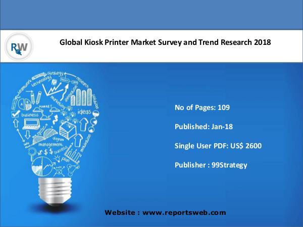 Global Kiosk Printer Market 2018 Growth & Forecast