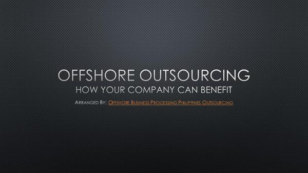 Offshore Outsourcing PDF Offshore Outsourcing ph outsourcing