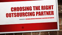 Choosing The Right Outsourcing Partner